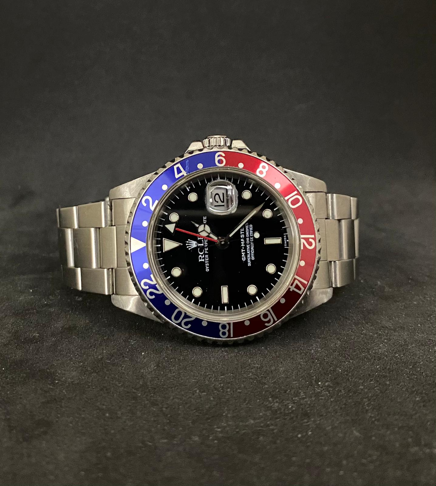 """Rolex GMT master """"pepsi"""" swiss only dial"""